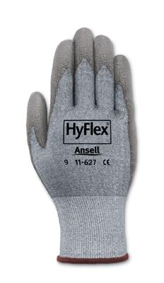 11627 Ansell® HyFlex® CR2  #11-627 Polyurethane Coated Cut-Resistant Protective Work Gloves. Cut level 1.