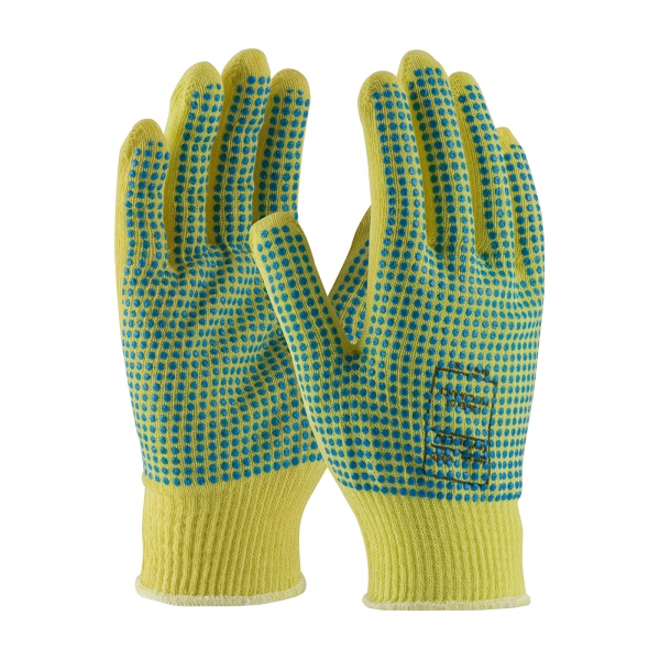 PIP Kut-Gard® Light Weight Kevlar® Glove w/ Double Sided PVC Dot Grip #08-K200PDD