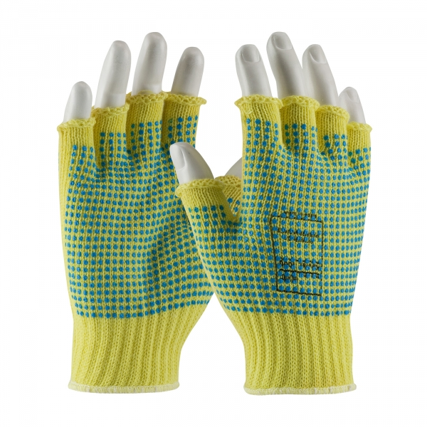 PIP®  Kut-Gard® Half-Finger Kevlar® Glove w/ Double-Sided PVC Dot Grip #08-K259PPD
