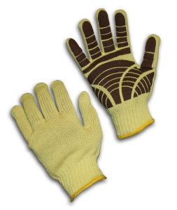 100% Kevlar®, 7 Gauge, Medium Weight, EN Cut Level 3, Tiger Paw Grip Palm Coat