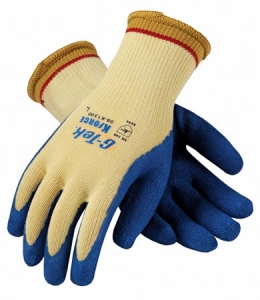 09K1300 PIP G-Tek® K-Force Latex Coated Cut-Resistant Protective Work Gloves. Cut level 4.