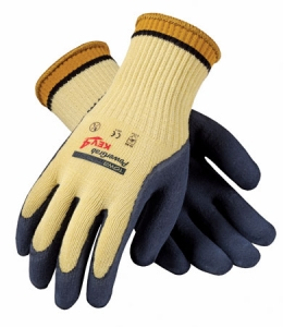 G-Tek® CR, 100% Kevlar®, MicroFinish®, Latex Grip, 10 Gauge, Medium Weight, EN Cut Level 4