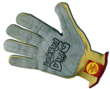 Sperian Junk Yard Dog® 7 Cut Standard Weight Kevlar® Cut Resistant Gloves With Full Premium Leather Palm And Reinforced Thumb Crotch
