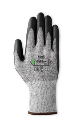 11435] Ansell® HyFlex® #11-435 Cut-Resistant Polyurethane Palm Coated Work Gloves. Cut level 3.