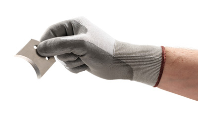 11644] Ansell® HyFlex® #11-644  Coated Cut-Resistant Protective Work Gloves. Cut level 2.