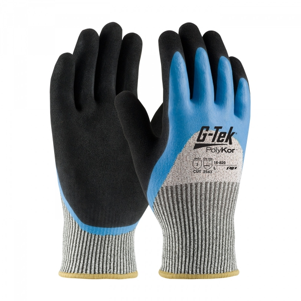 #16-820 PIP® G-Tek® PolyKor™ Double Dipped Latex Coated Gloves