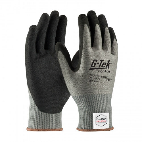 16-X310 PIP® G-Tek® PolyKor™ Xrystal™ Nitrile Coated Palm Gloves