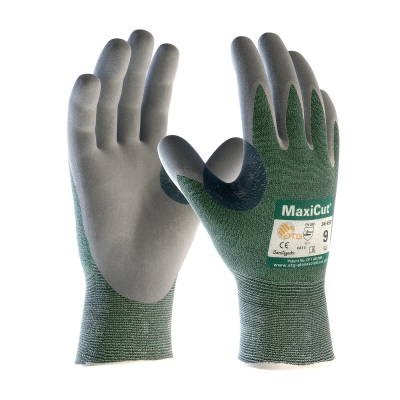 #18-570 PIP ATG® MaxiCut® Seamless Knit Engineered Yarn Glove with Nitrile Coated MicroFoam Grip on Palm, Knuckle & Fingers.