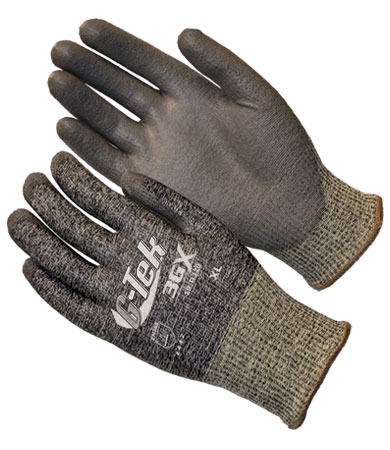 #19-D320 PIP G-Tek® 3GX Dyneema® Diamond Cut-Resistant Protective Work Glove w/ Polyurethane Coating. Cut level 3.