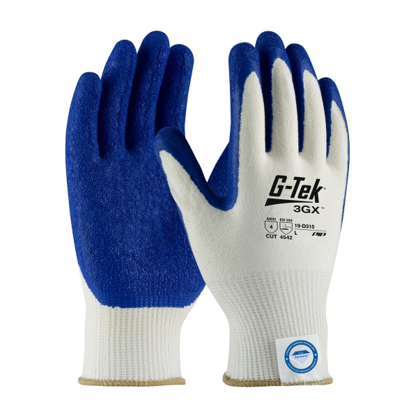#19-D315 PIP G-Tek® 3GX™ Dyneema® Diamond  Cut Resistant Glove w/ Latex Coated Crinkle Grip