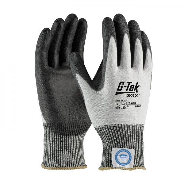 19-D324 PIP® G-Tek® 3GX™ Seamless Knit Dyneema® Diamond Cut Resistant Lycra Glove w/ Smooth Polyurethane Grip