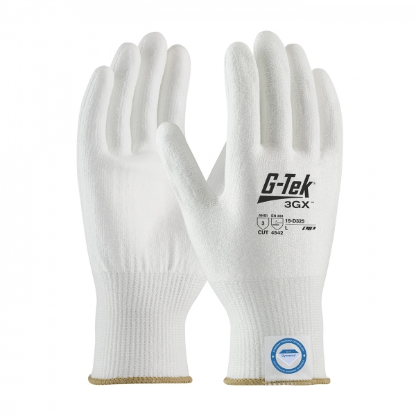 19-D325 PIP® G-Tek® 3GX™ Seamless Knit Dyneema® Diamond Cut Resistant Lycra Glove w/ Smooth Polyurethane Coating Grip