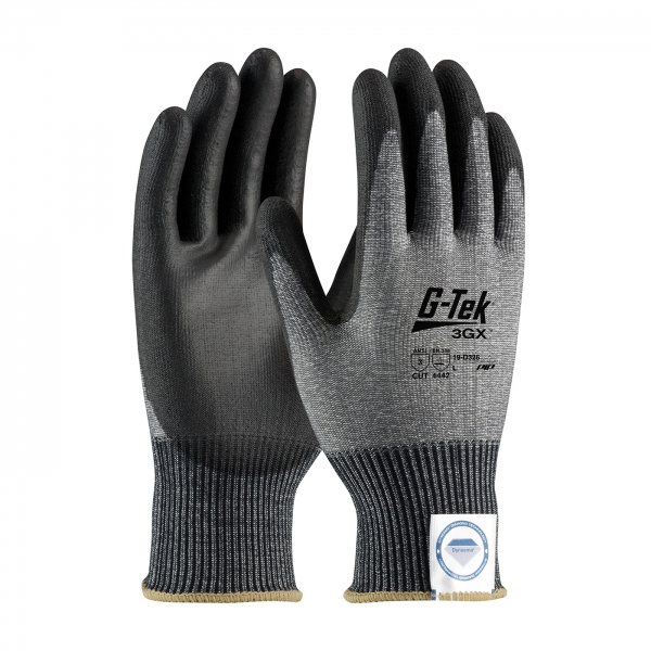 #19-D326 PIP® G-Tek® 3GX™ Seamless Knit Dyneema® Diamond Cut Resistant Lycra Glove w/ Polyurethane Coated Smooth Grip