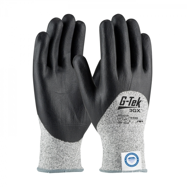 #19-D355 PIP G-Tek® 3GX™ Seamless Knit Dyneema® Diamond Blended Cut Resistant Glove w/ Nitrile Coated Foam Grip