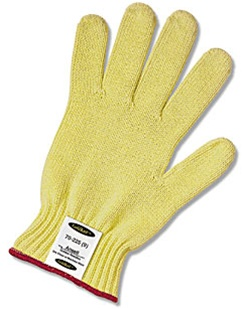 GoldKnit 100% Kevlar® String Knit, Ansell® GoldKnit® Kevlar® Cut-Resistant String Knit Gloves, cut level 2 & 3, light weght, medium weight, heavy weight,