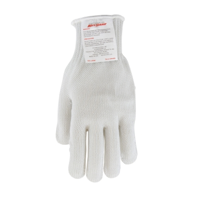 #22-601 PIP® Kut-Gard® White PolyKor Blended Seamless Knit Glove with Silagrip Coating on Palm - Heavy Weight