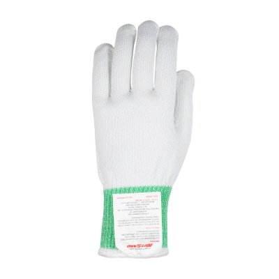 PIP Kut-Gard® Polyester over Dyneema® / Silica / Stainless Steel Core Antimicrobial Glove with green cuff- Medium Weight