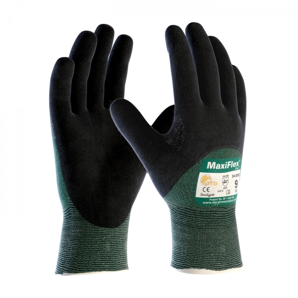 #34-8753 PIP® MaxiFlex® Cut™ Seamless Knit Cut Reistant Glove w/ Premium 3/4 Nitrile Coated Micro-Foam Grip Palm