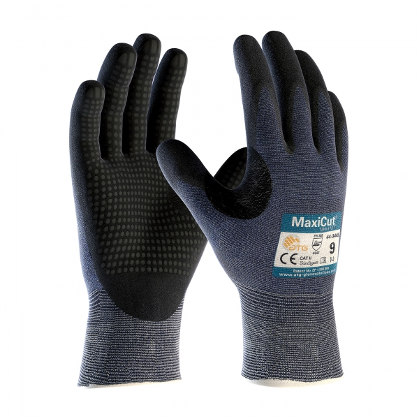 #44-3445 PIP® MaxiCut® Ultra™ DT Black Nitrile Coated Microfoam Palm Gloves
