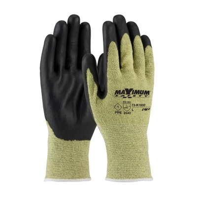#73-K1800 PIP® Maximum Safety® AR/FR Seamless Knit Aramid Gloves with Nitrile Coated Smooth Grip on Palm & Fingers