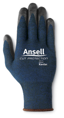 97505 Ansell® Cut Protection Coated Cut-Resistant Work Gloves, cut level 4