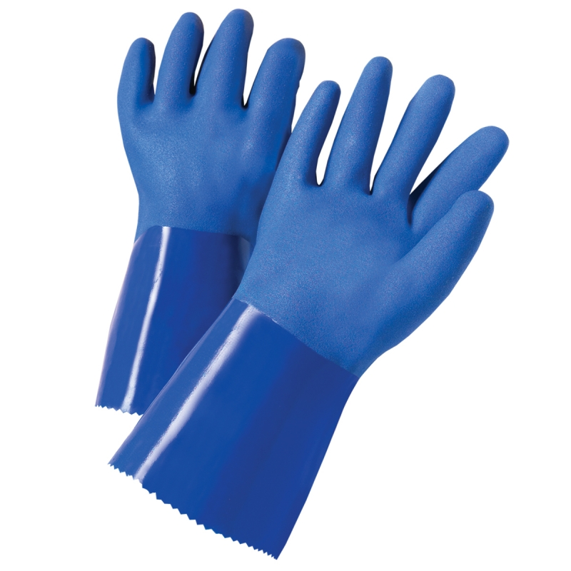 588658  PIP XtraTuff™  Kevlar® Lined PVC Coated Chemical-Resistant Gloves, cut level 3