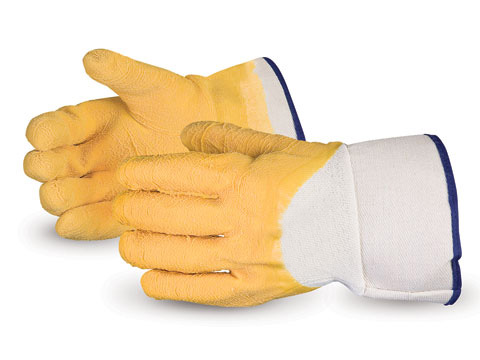 L868B Superior Chemstop™ Wrinkle Finish Jersey Liner Latex Palm Coated Cut & Puncture Resistant Work Gloves