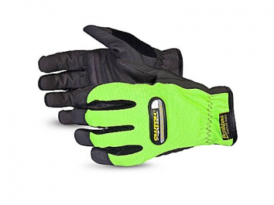 #MXHVPB Superior Glove® Clutch Gear® Hi-Viz Mechanics Gloves w/ Punkban™