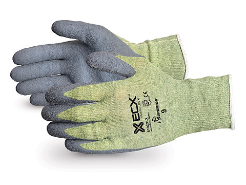 S13CXLX Superior® Emerald CX™ Kevlar® Wire Core Cut Resistant Work Gloves with Latex Palms