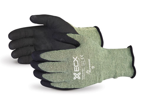 S13CXPNT Superior® Emerald CX™ Kevlar® Composite Knit Cut & Puncture Resistant Work Gloves w/ Micropore Nitrile Palms