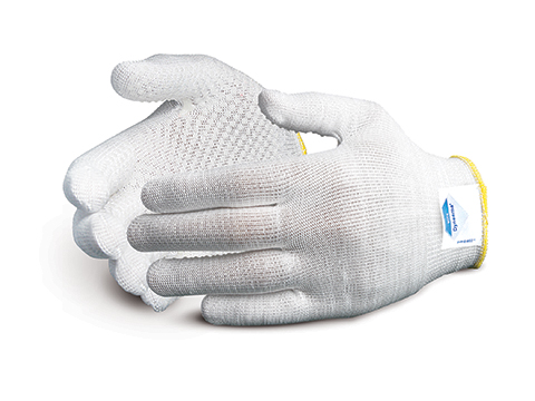 #S13DYD Superior Glove® Superior Touch® 13-gauge Knit Cut Resistant Work Gloves with HPPE and palm PVC Dots