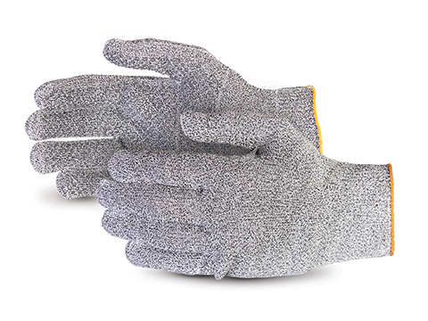 S13GDSTD Superior Glove® Sure Knit™ 13-Gauge Composite Knit and Dyneema® Cut Resistant Work Glove w/ PVC Dots