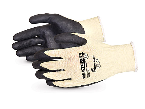 S13KFNT Superior® Dexterity® Kevlar®/Composite String Knit Cut Resistant Work Glove with Nitrile Palms