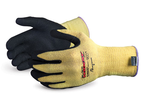 S13KPNT Superior® Black Widow™ 13-gauge Kevlar-Knit Cut & Puncture Resistant Work Glove with Micropore Nitrile Palms