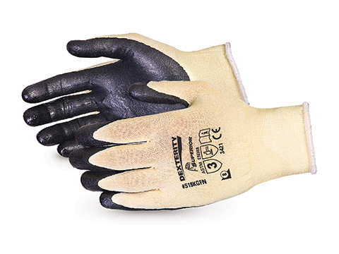 S18KGFN Superior® Dexterity® Ultrafine 18-Gauge Cut Resistant Work Glove with Foam Nitrile Palm