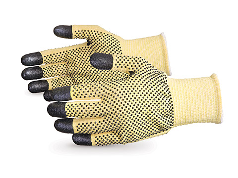 SKFG2DFT Superior® Dexterity® Cut Resistant Work Glove with PVC Dots and Nitrile Fingertips