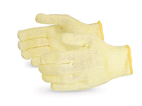 #SKWCP - Superior Glove® Emerald CX® 7-gauge Kevlar/Stainless-Steel Cut Resistant String Knit Work Gloves with Wire-Core™/polyester plated interior