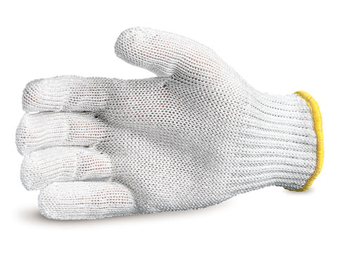 #SPWWH - Superior Glove® White 7-gauge Wire-core Composite Knit Cut Resistant Work Gloves