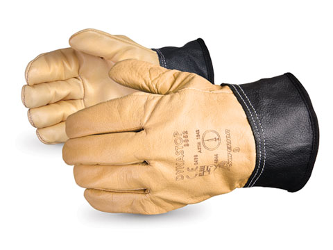 DS9852 Superior® Dynastop® Needlestick & Cut Resistant Full-Grain Leather Work Gloves