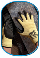 SHOWA Best® S-TEX® 303 Cut Resistant Black Natural Rubber Palm Coated Work Gloves, cut level 5, STEX303 Showa® Hi-Viz S-Tex 303 Coated Cut-Resistant Work Gloves