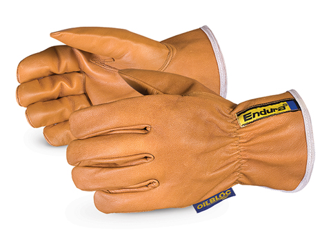 Superior® Glove Endura® Kevlar ® -Lined Waterstop ™ / Oilbloc ™ Goat-Grain Arc-Flash Drivers Gloves
