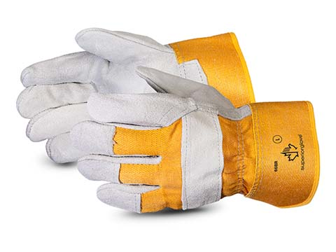 Superior Glove® Crewmate® Split Fitters Glove w/ Knuckle Strap #66BR