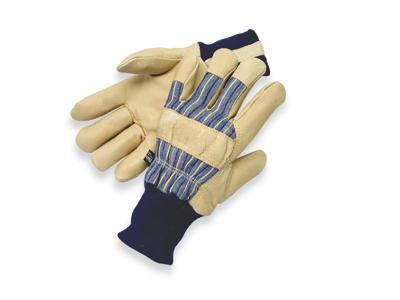 Pigskin Thinsulate® Lined Cold Weather Gloves, MDS Economy Thinsulate® Lined Cold Weather Pigskin Leather Work Gloves w/ Knit Wrist