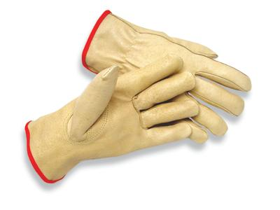 MDS Economy Premium Pigskin Leather Driver's Work Gloves