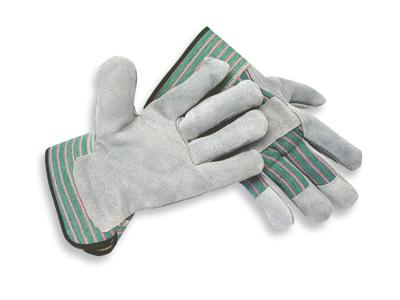 Select Shoulder Grade Split Leather Palm Gloves, MDS Economy Leather Palm Work Gloves w/ Safety Cuff