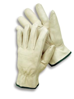 Premium Grain Leather Unlined Drivers Gloves , MDS Economy Cowhide Leather Driver's Work Gloves