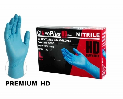 #GPNHD6 AMMEX GlovePlus Heavy Duty Disposable Nitrile Exam Gloves