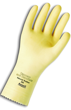 392 Ansell® Unsupported Canners & Handlers™ Chemical-Resistant Gloves w/ Pebble Grip