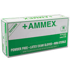#APFLR Ammex Hand Specific Powder Free Disposable Latex Exam Gloves