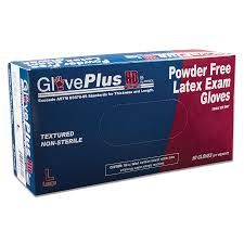 #GPLHD8 Ammex GlovePlus Heavy Duty Blue Latex Exam Gloves